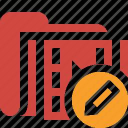 edit, film, folder, media, movie, video icon