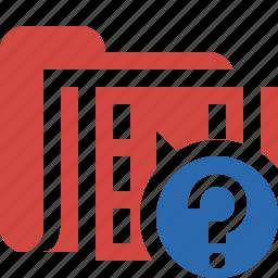 film, folder, help, media, movie, video icon