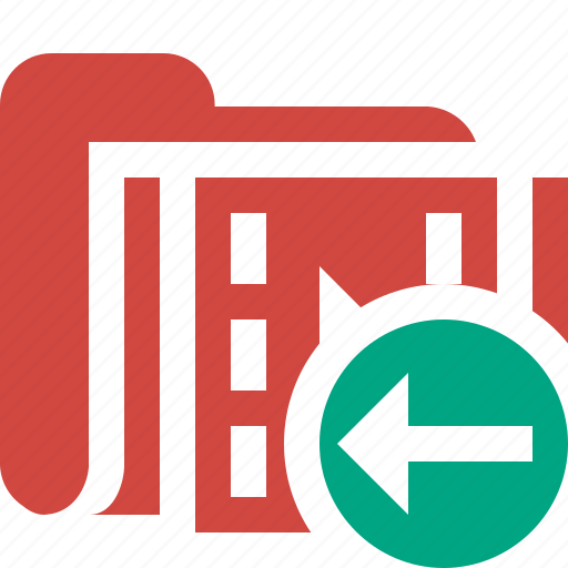 film, folder, media, movie, previous, video icon