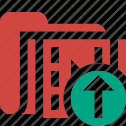 film, folder, media, movie, upload, video icon