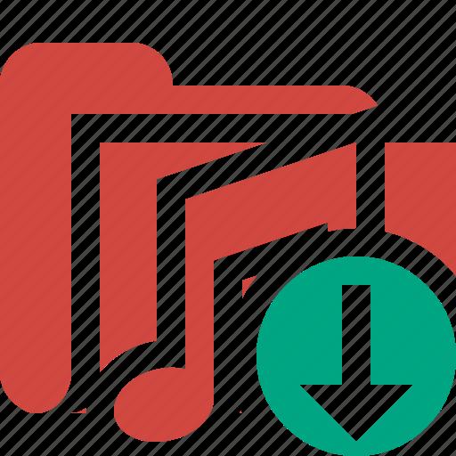 audio, download, folder, media, music, songs icon