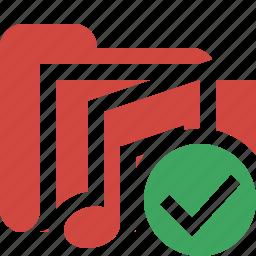 audio, folder, media, music, ok, songs icon