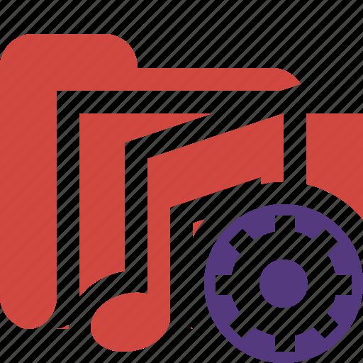 audio, folder, media, music, settings, songs icon