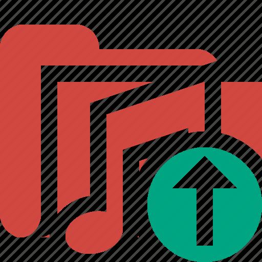 audio, folder, media, music, songs, upload icon
