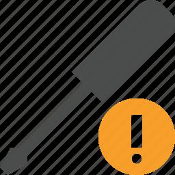repair, screwdriver, tool, tools, warning icon