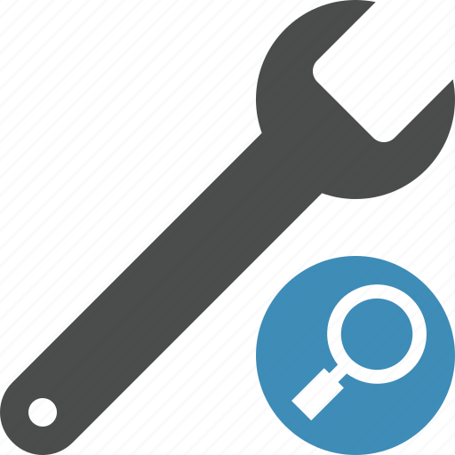 repair, search, spanner, tool, wrench icon