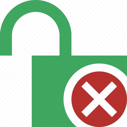access, cancel, password, protection, secure, unlock icon