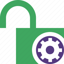 access, password, protection, secure, settings, unlock icon