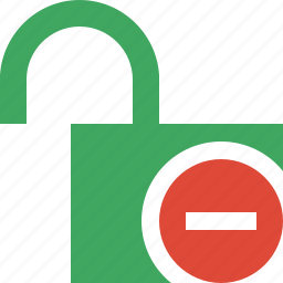 access, password, protection, secure, stop, unlock icon