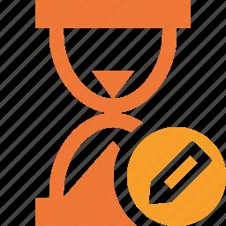 alarm, clock, edit, timer, wait, watch icon