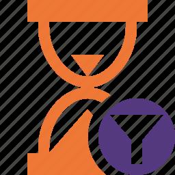 alarm, clock, filter, timer, wait, watch icon