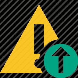 alert, caution, error, exclamation, upload, warning icon
