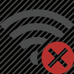 cancel, connection, fi, internet, wi, wifi, wireless icon