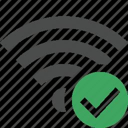 connection, fi, internet, ok, wi, wifi, wireless icon