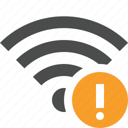 connection, fi, internet, warning, wi, wifi, wireless icon