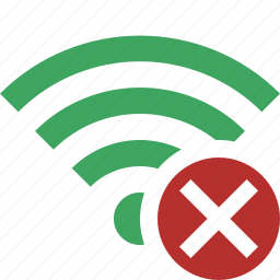 cancel, connection, fi, green, internet, wi, wireless icon