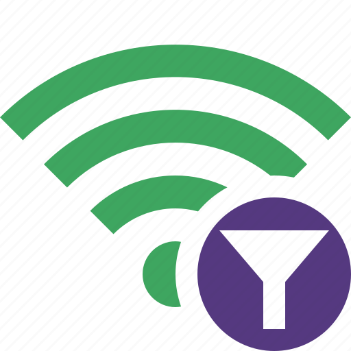 connection, fi, filter, green, internet, wi, wireless icon