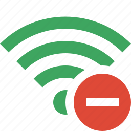 connection, fi, green, internet, stop, wi, wireless icon