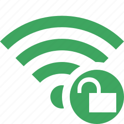 connection, fi, green, internet, unlock, wi, wireless icon