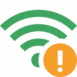 connection, fi, green, internet, warning, wi, wireless icon