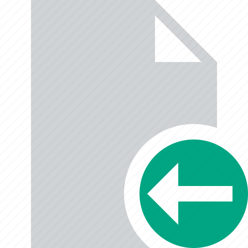 blank, document, file, page, previous icon