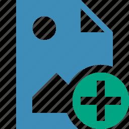 add, document, file, image, picture icon