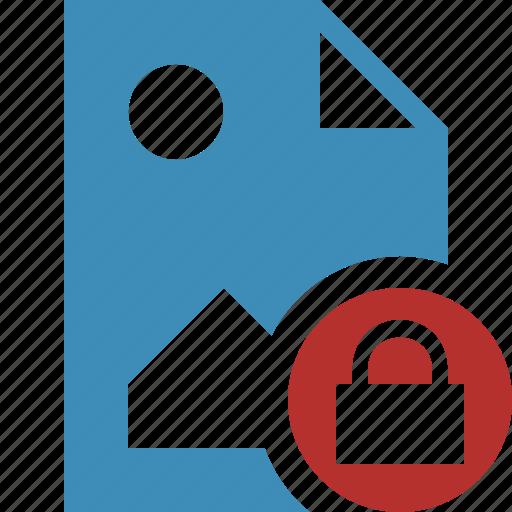document, file, image, lock, picture icon
