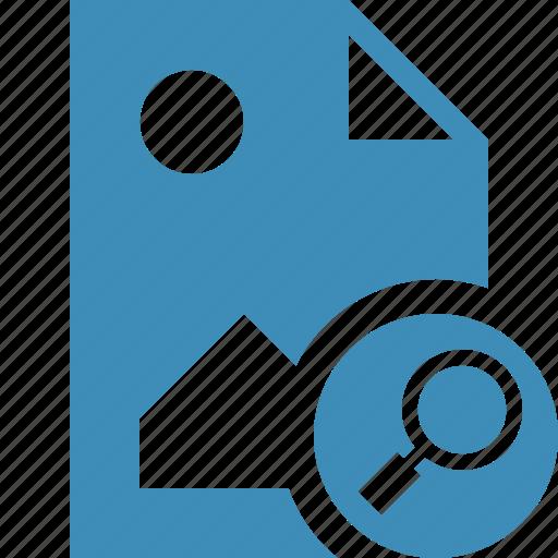 document, file, image, picture, search icon