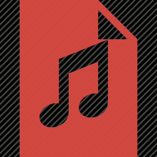 audio, document, file, music icon