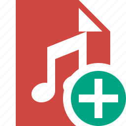 add, audio, document, file, music icon