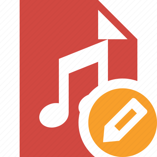 audio, document, edit, file, music icon