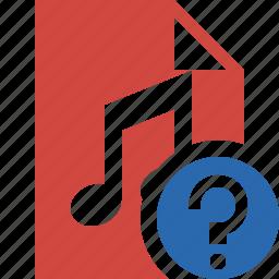 audio, document, file, help, music icon