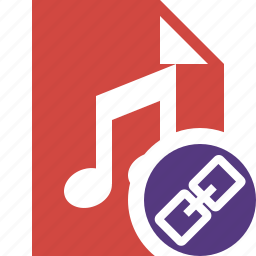 audio, document, file, link, music icon