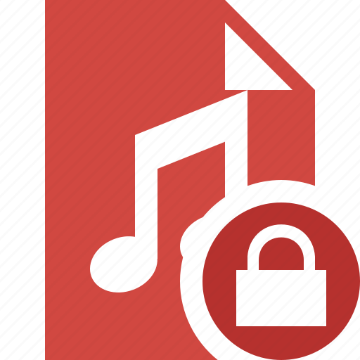 audio, document, file, lock, music icon