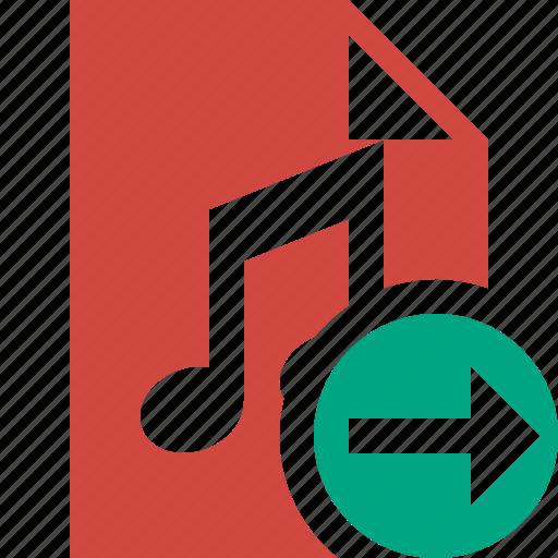 audio, document, file, music, next icon