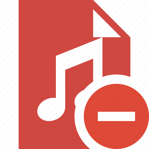 audio, document, file, music, stop icon