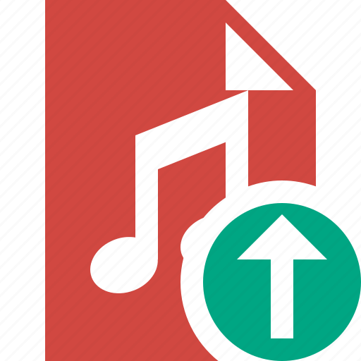 audio, document, file, music, upload icon