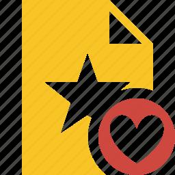 document, favorite, favorites, file, star icon