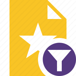 document, favorite, file, filter, star icon