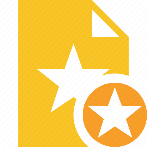 Document, favorite, file, star icon - Download on Iconfinder