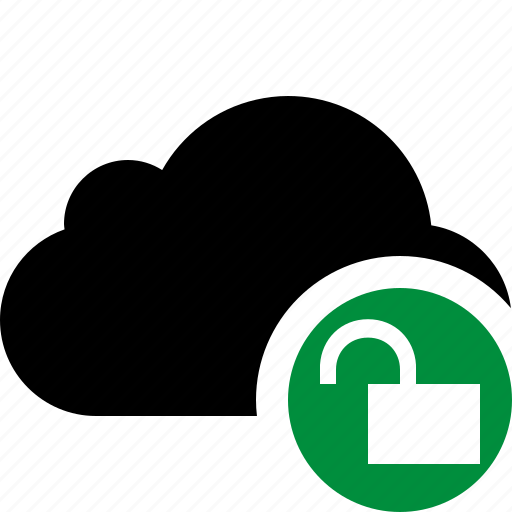cloud, network, storage, unlock, weather icon