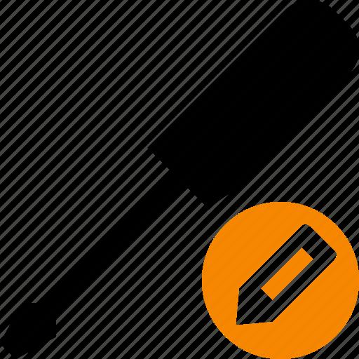 edit, repair, screwdriver, tool, tools icon