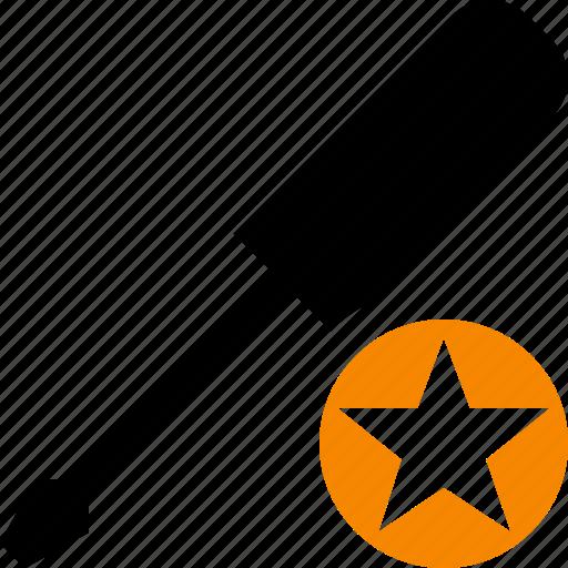 repair, screwdriver, star, tool, tools icon