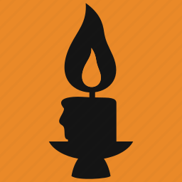 candle, candlestick, celebration, fire, flame, halloween, holiday icon