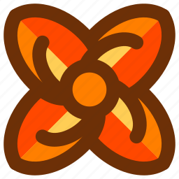 abstract, design, floral, flower, shape, symbols icon