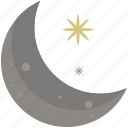 abstract, design, moon, night, shape, symbols, time icon