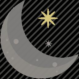 abstract, design, moon, night, shape, symbols, time icon