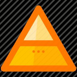creative, design, pyramid, shape, sign, symbols, triangle icon