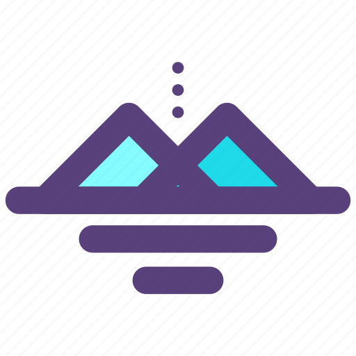 pyramid, symbols icon