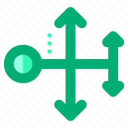 abstract, arrows, creative, design, shape, symbols icon